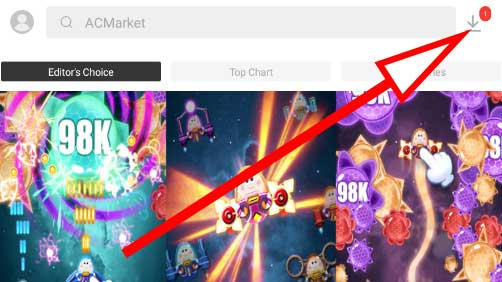 Click download icon on AC Market to see all your downloads