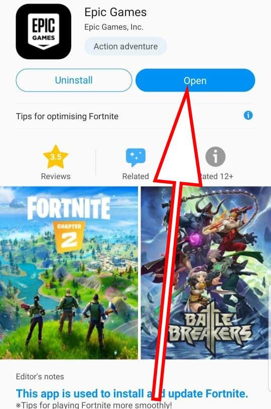 open Epic Games Launcher