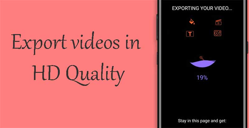 export videos in HD Quality