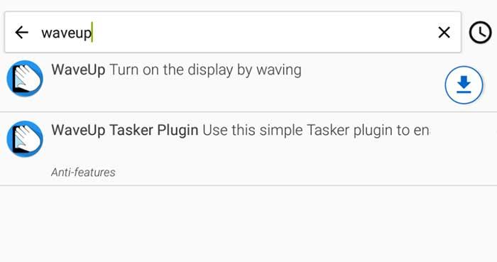 WaveUP and Waveup tasker plugin on F-Droid